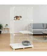 """NEW Cat Kitten Pet Cage Large 3 Tier Play Pen Wire 25""""L x 37""""W x 70""""H US... - $129.99"""