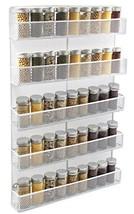 TQVAI 5 Tier Wall Mount Spice Rack Organizer Kitchen Spice Storage Shelf... - £33.00 GBP