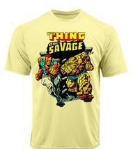 Thing Doc Savage Dri Fit graphic Tshirt moisture wicking superhero comic SPF tee image 2