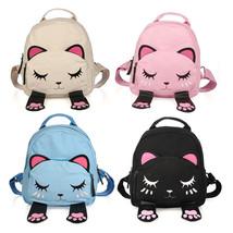 Women Cute Cartoon Cat Backpack Shoulder Mini School Bag Rucksack Travel... - $13.99