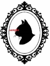 Cameo Cat Head Single Colour PDF Cross Stitch Chart - $8.00