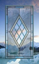 Two Stained Glass Windows clear transom sidelight bevel - $778.14