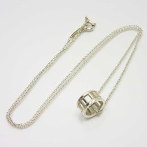 "Tiffany & Co. Necklace Atlas Open Pendant Mini Silver SV-925 Ladies 16"" - $137.61"