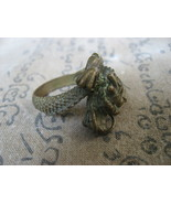 Rare Blessed Holy Old Dragon Magic Ring Top Lucky Life Powerful Buddhist... - $16.99