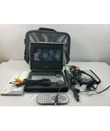 Philips LCD Portable DVD Player White W/ Battery Headphones Remote & Ext... - $35.24