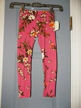 1st Kiss Floral/Polka Dot Print Multicolor Leggings Size 4/5 Girl's NEW - $16.00