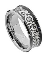 Tungsten Carbide Black Silver Dragon Wedding Band Ring - Price for one r... - $39.99