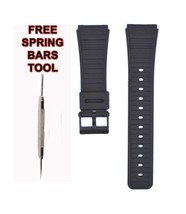 Compatible Casio DBX-102 22mm Black Rubber Watch Strap CAS139 - $14.84