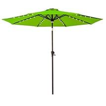 FLAME&SHADE 9 Foot LED Lights Outdoor Market Patio Umbrella with Crank L... - $127.82 CAD