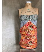 STRAPLESS HALTER DRESS Custo Barcelona Multi-Pattern Stretch 4 SPAIN Sum... - $43.45