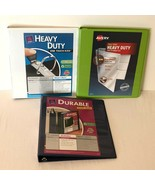 """Avery Lot of 3 Heavy Duty Durable View Binders 1"""" 3 Ring Binder Green Na... - $14.99"""