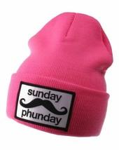 Team Phun Sunday Phunday Neon Orange Pink Yellow Green Skullie Hat Beanie Hat NW image 2