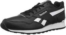 Reebok Men's Classic Harman Run Walking Shoe, Black/White, 7.5 M US - $63.38