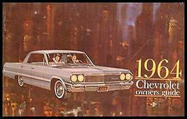 1964 Chevrolet Owner's Manual, Original, Full size cars - $31.41