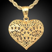 Men and Women's Unisex Fashion Jewelry Retro 18K Gold Plated Necklace A6... - $9.00