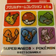 Nintendo Tokyo Pokemon Acrylic Charm Collaborated Mario All 6 Types Comp... - $96.89