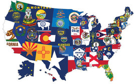 SET OF 50 3X5' STATE FLAGS UNITED STATES COMPLETE ALL US STATES 3X5 FT  NEW - $272.25