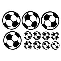 12Pcs Footballs/Sheet Wall Stickers Decals Vinyl Wall Sticker Art Sports... - $7.99