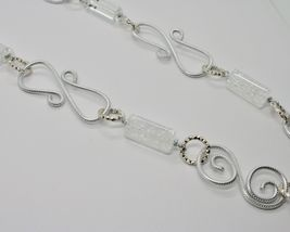 NECKLACE THE ALUMINIUM LONG 84 CM WITH CRYSTAL AND CRYSTAL CRACK image 4