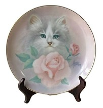 Bob Harrison Cats Collection Plate Blushing Beauties Petals And Purrs Po... - $19.99