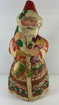 Old World Santa Claus Father Christmas Hand Painted Fabric 11.5 in Figurine - $22.76