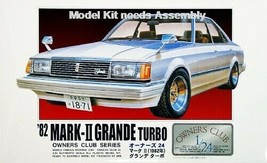 Build an Authentic High Simulation Model of 1982 Toyota Mark II 1/24 Plastic Kit - $26.13