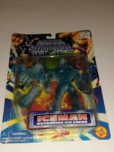 1996 Marvel Universe Iceman Action Figure w/Extended Ice Limbs Toy Biz Vintage - $9.89