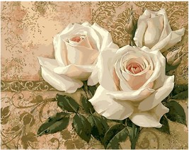 "Rose Flower 16X20"" Paint By Number Kit DIY Acrylic Painting on Canvas Fr... - $8.90"