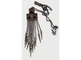 Fashion Necklace, 24 Inch Chain, 5 Inch Pendant image 2