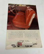 1964 Vintage print ad Car Cadillac Dealer Invites You Be His Guest car Seat ad - $36.71