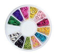3 Packs Beautiful Nail Art DIY Decoration Random Color, Face image 2
