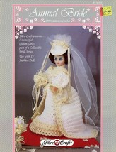 "Annual Bride 1993 15"" Doll Outfit Fibre Craft Crochet Pattern- 30 Days To Pay! - $2.67"