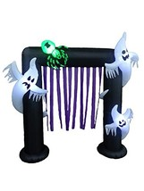 BZB Goods 8 Foot Illuminated Halloween Inflatable Ghosts and Spider Arch... - $131.70