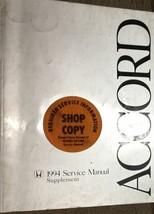 1994 Honda Accord Service Shop Repair Workshop Manual Supplement Feo Book 1994 X - $47.47