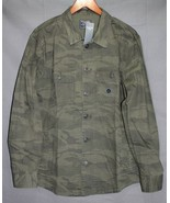 NEW Abercrombie & Fitch Men's Military Shirt Jacket Camo Olive  $78 - $15.94