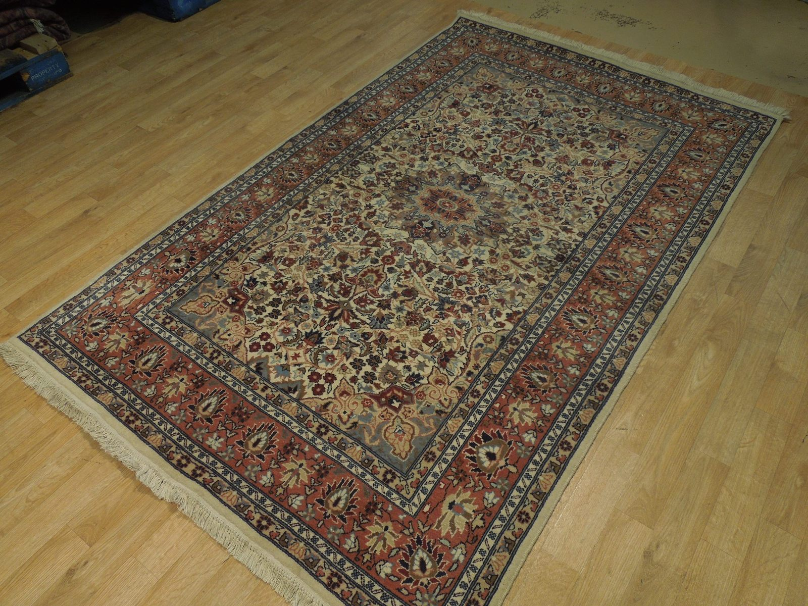 Ivory Wool Carpet 5 x 7 Fine Quality Reproduction Traditional Handmade Rug image 5