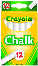 White Chalk 12-Piece Set Chalkboard Teaching School Teacher Professor Cl... - $2.05