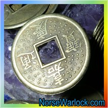 Magick Good Luck Charm Coin Draws Life's Brightest Blessings 2 You! META... - $14.99