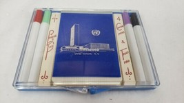 Vintage United Nations Bridge Score Pad, Pens, Tally Pad Coronet Made in... - $14.99