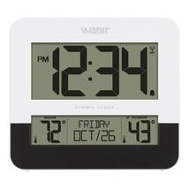 La Crosse 8.54-Inch Atomic Digital Wall Clock with In/Outdoor Temperatur... - $47.49