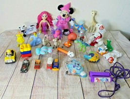 30 Plush Plastic Toys Lot Miscellaneous Disney Pez Shrek Nemo mermaid cars - $15.39