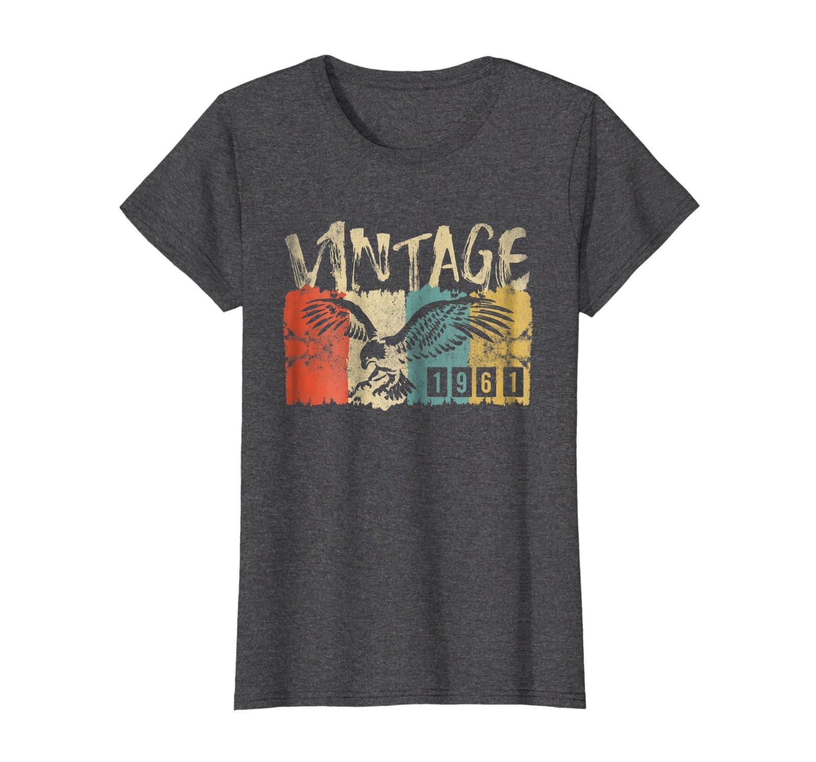 Funny Shirts - Vintage Retro Genuine Made In 1961 57th Birthday Gift 57 yrs Wowe