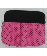 GANZ Brand Hot Pink Black Polka Dots iPad Tablet Skirt Carrying Case - $19.99