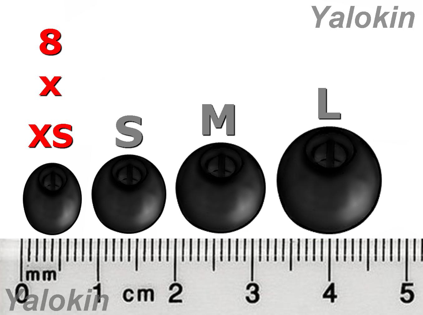 8pcs Replacement Eartips Earbuds Sennheiser CX 3.00 CX 5.00 Earphones (B-NSEN)