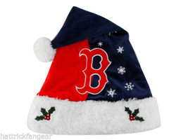 Boston Red Sox Forever Collectibles MLB Knit Fleece Santa Hat - $17.09