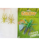 Halloween NIP Grow Grasshopper, Handcrafted 3D Grasshopper Earrings Ento... - $15.99