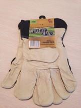 Mid West Premium Leather Palm Glove Heavy Duty Performance Leather Sz L - $14.82