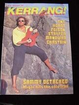 Kerrang #149 June July Sammy Hagar TNT Heart Poison Styrper Manowar Chas... - $16.99