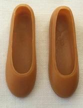 Vintage Barbie MOD Live Action Barbie #1155 Tan Flats Shoes   274-39 - $25.00