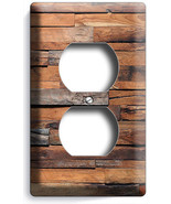 RUSTIC RANCH BARN RECLAIMED WORN OUT WOOD OUTLET PLATES LOG CABIN ROOM A... - $8.99